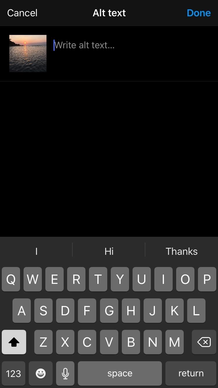 'Alt text' screen